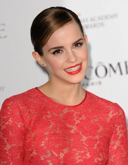 Emma Watson nipples in red dress
