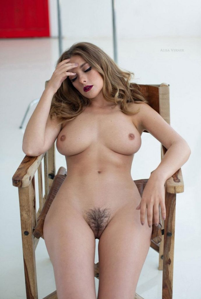 Busty Model Olga Kobzar Proudly Displaying Her Gorgeous Bush gallery, pic 20