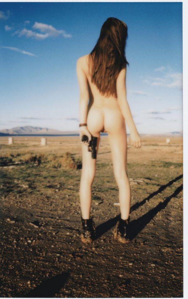 Playful Brunette Elsie Hewitt Showing Her Bare Boobs Outdoors video screenshot 10