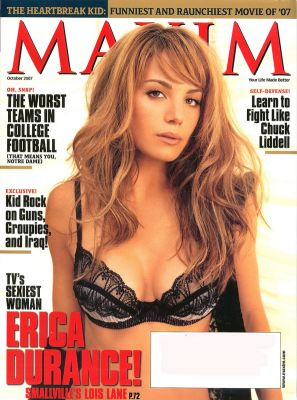 Lustful Actress Erica Durance Posing in Sexy Lingerie in Maxim