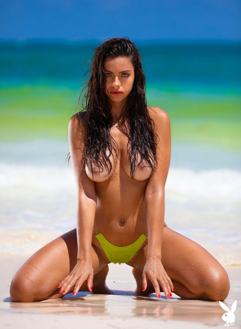 Priscilla Huggins Ortiz Flaunts Her Big Boobs on the Beach