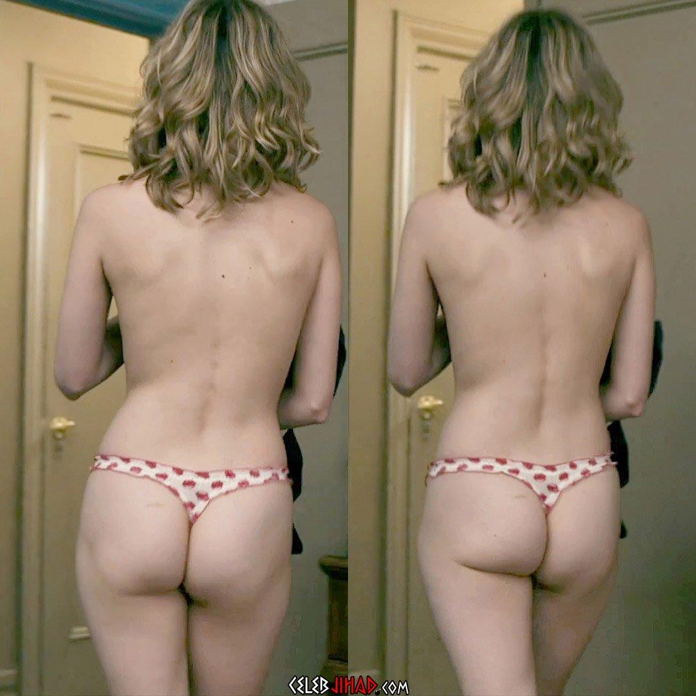 Brie Larson ass thong