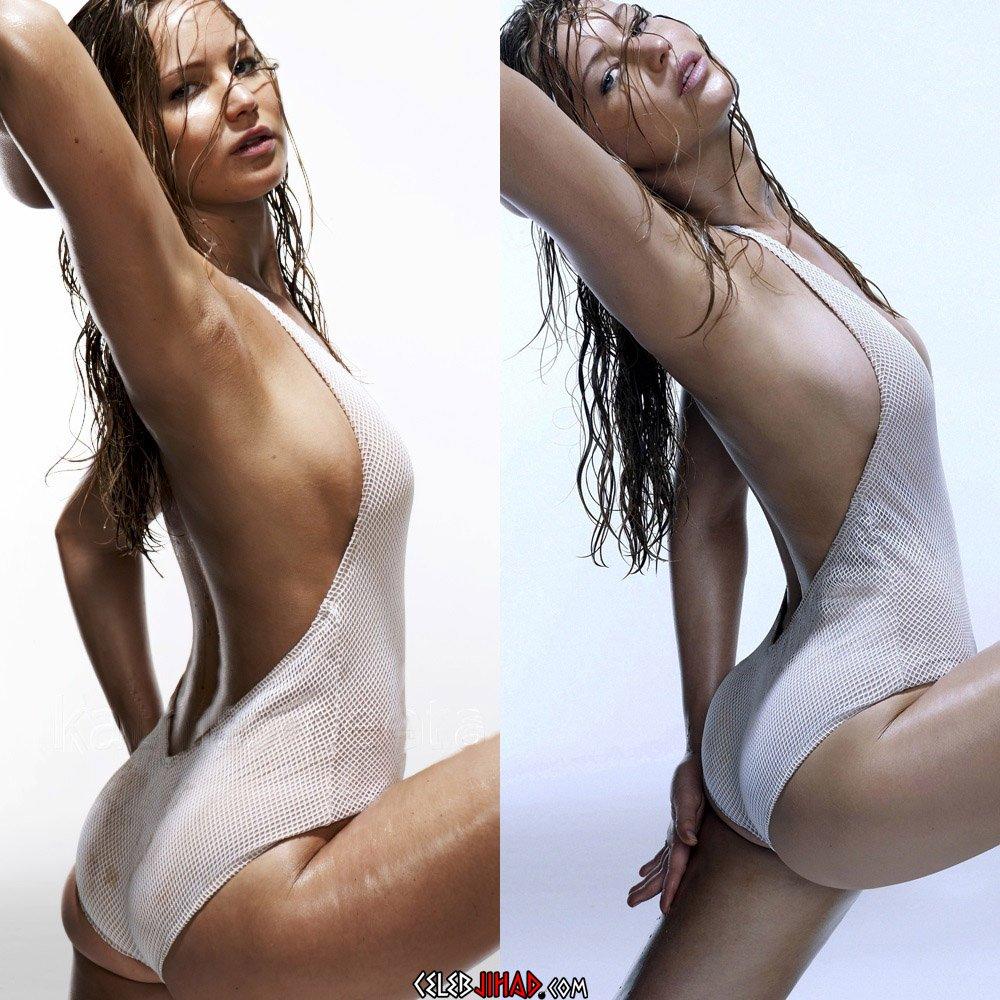 Jennifer Lawrence ass side boob
