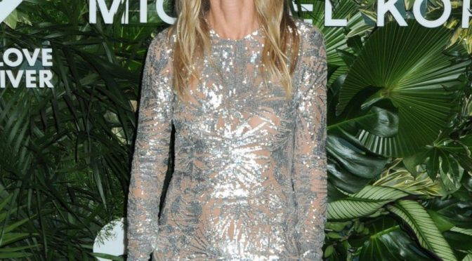 Fabulous Blonde Actress Gwyneth Paltrow Turns Up in a See-Through Dress