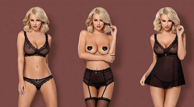 Stacked Blonde Rhian Sugden Modeling Lingerie, Looking Irresistible