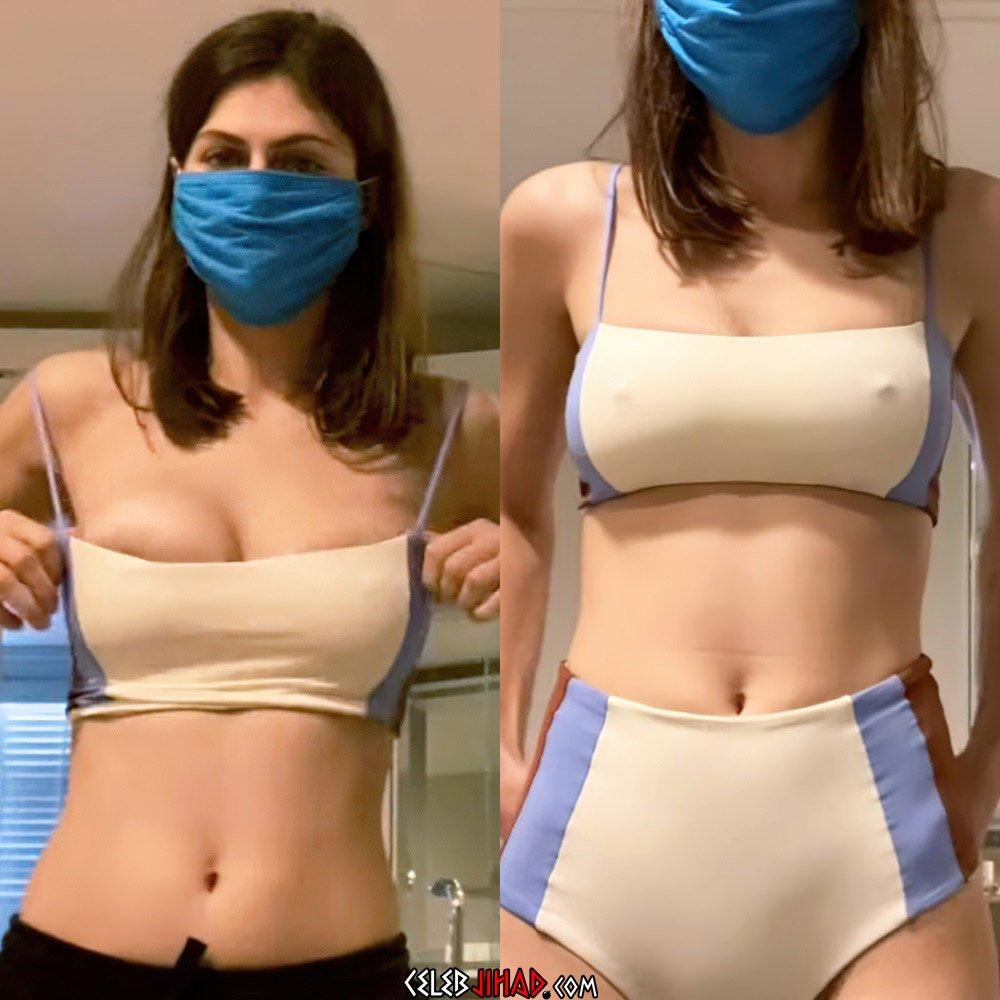 Alexandra Daddario bikini mask