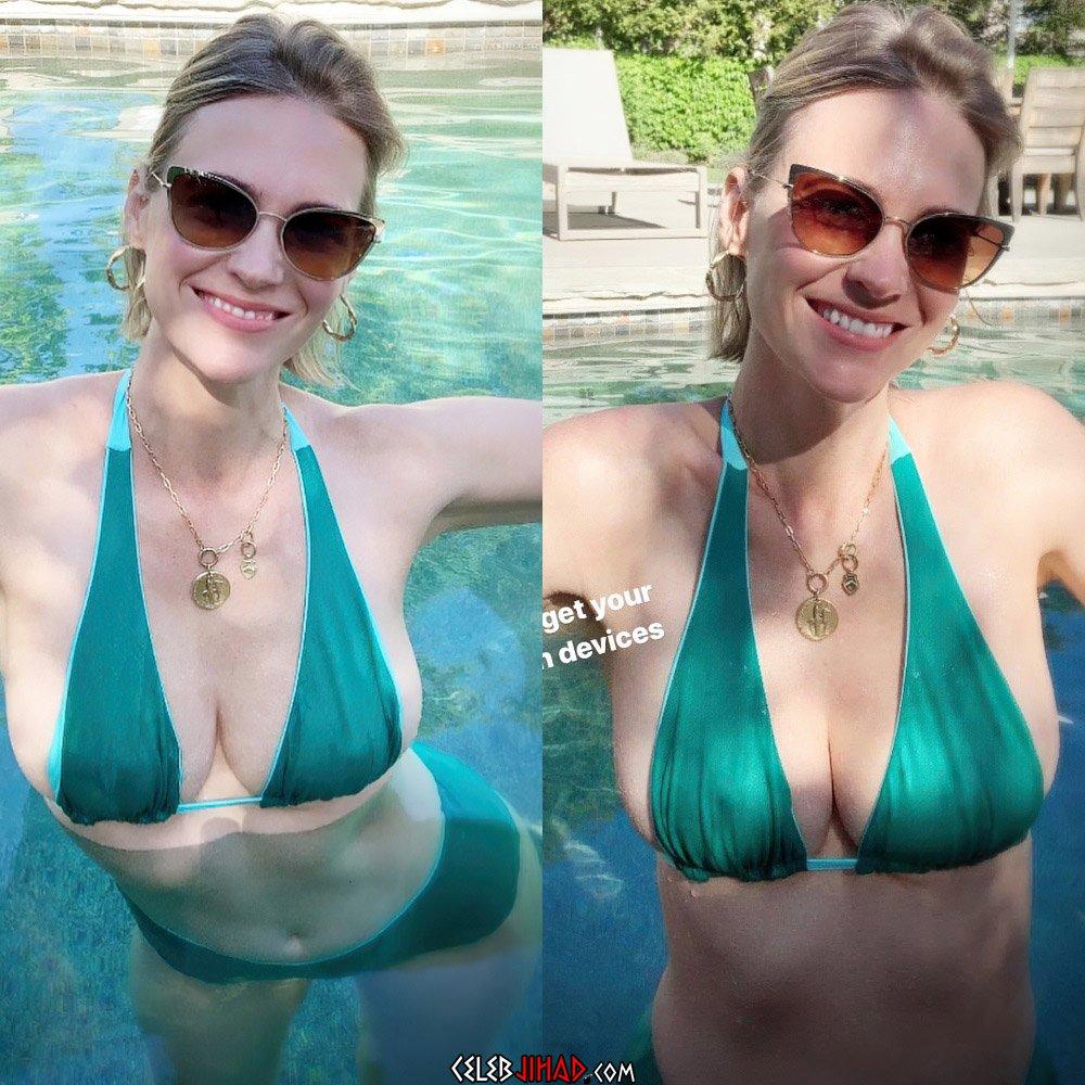 January Jones bikini tits