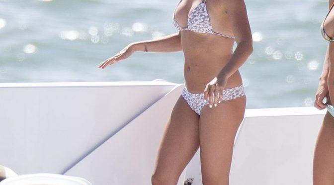 Bikini-Wearing Seductress Ashley Tisdale Frolicking on a Yacht