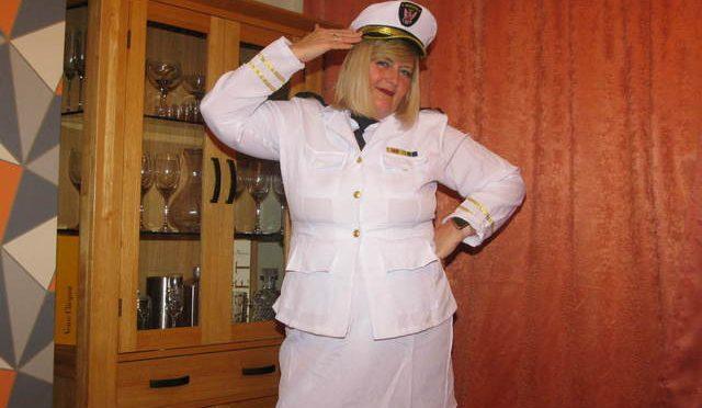 Lt Chrissy US Navy Meets The Captain Pt1