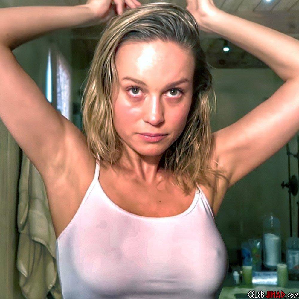 Brie Larson nipples