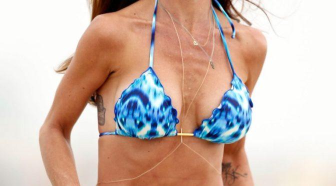 Bikini-Wearing Charisma Carpenter Looks Hot but in a Strange Way
