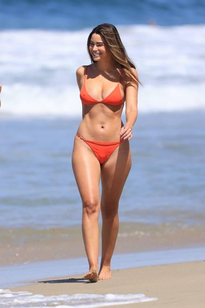 Jennifer Lahmers Sexy on Beach Bikini 1