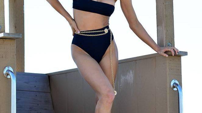 Joy Corrigan on Beach Photoshoot (38 Photos)