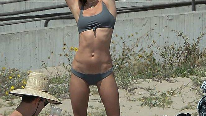 Alessandra Ambrosio on Beach (65 Photos)