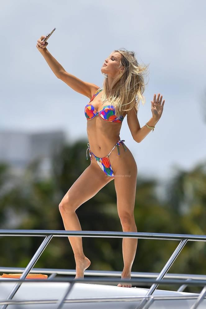 Joy Corrigan on Beach Swimsuit 5
