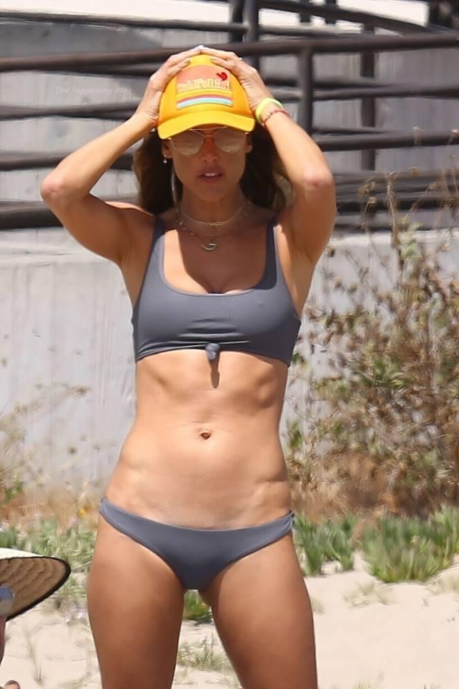 Alessandra Ambrosio on Beach 16