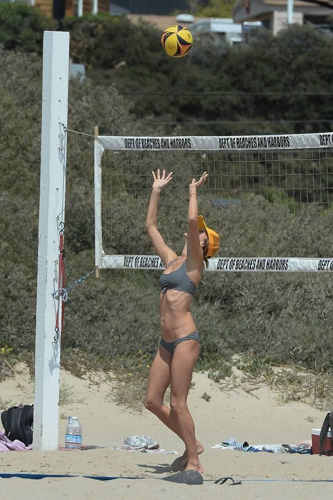 Alessandra Ambrosio on Beach 21