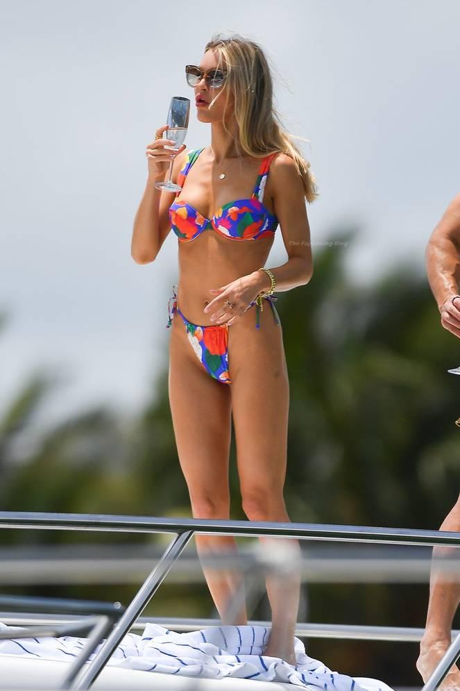 Joy Corrigan on Beach Swimsuit 22