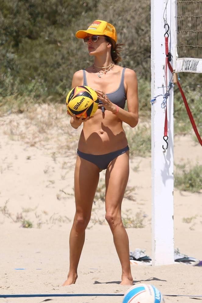 Alessandra Ambrosio on Beach 47