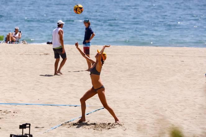 Alessandra Ambrosio on Beach 57